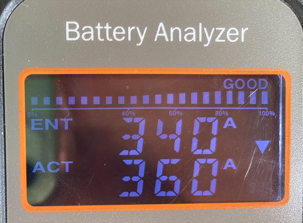 バッテリー寿命(CCA)のCCA数値