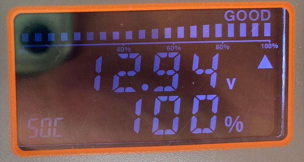 バッテリー寿命(CCA)の電圧