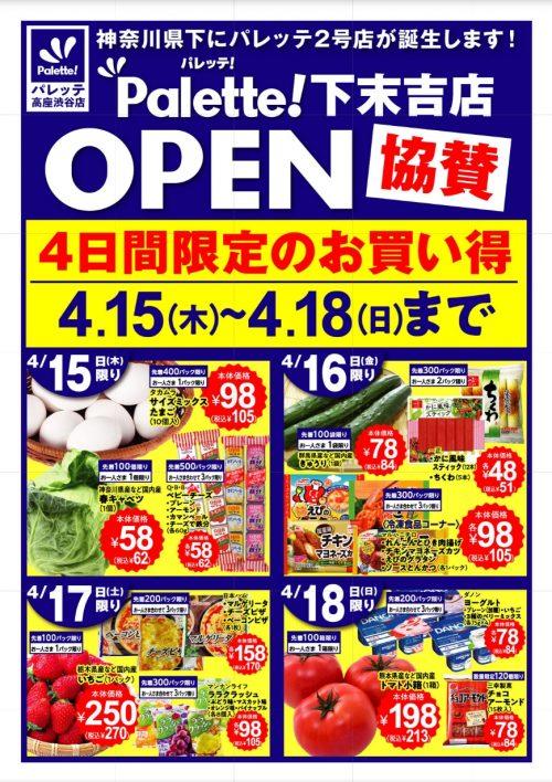 パレッテの最新チラシ(下末吉店/高座渋谷店)